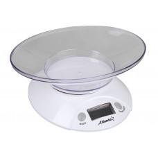 ATH-803 (white) Весы кухонные электронные с чашей